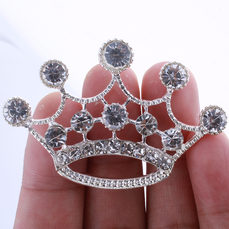 10PCS 5.7CM Fashion Crown Rhinestone Buttons For Home Decoration
