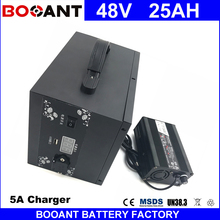 BOOANT 48V 25AH 1200W E-Bike Lithium Battery with a Metal Box Electric Bicycle Battery 48V with 5A Charger Free Customs to EU US(China)