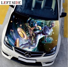 LEFT SIDE Car Stickers and Decals Constellation Engine Hood Star Night Styling Carbon Vinyl Cover Waterproof High Definition(China)