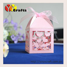 laser cut individual high quality free logo paper customizable love dove decorative sweet boxes for weddings(China)