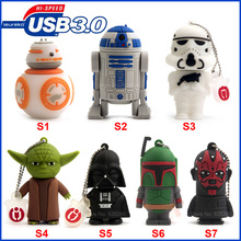 USB3.0 Pen drive 64GB! USB3.0 Pen drive Star wars 8GB/16GB/32GB usb flash drive 64gb, flash memory stick pendrive Free shipping!