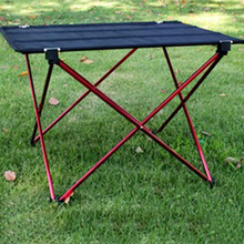 Outdoor Aluminium Alloy Folding Table Oxford Fabric Portable Camping Furniture Picnic Desk Free Shipping H192