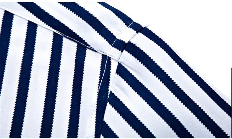 2018 New Men's Striped Male Shirts Cotton Men Shirt Mens Clothing Chemise Social casual Slim fit Dress Homme Shirts men K036 11