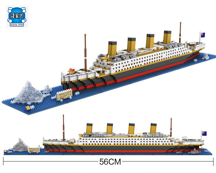 The Titanic Ship 3D Building Blocks Toy Titanic Boat 3D Model Educational Gift Figures Toys for Children Compatible with Lepins<br>