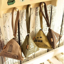 2017 New Creative Design Restoring Ancient Ways Zongzi Canvas Coin Purses Change Wallets Vintage Styles coin purse for Women