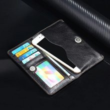 Genuine Cow Leather Phone Case Hand Card Wallet POUCH For BlackBerry KEYone Mercury.Zopo Color S5.5 S5 E E1 ZOPO Lion Heart(China)