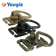10 Pcs/lot YOUGLE 360 Rotation D Ring Buckle Molle Webbing Strap Locking Carabiner Backpack Clip