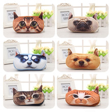 3D animal pencil case kawaii pencilcase cute cat and dog pen pouch material escolar plush estojo escolar menina lapices(China)