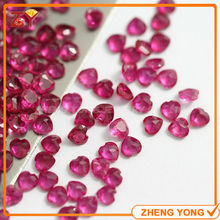 6*6mm Heart Shape Normal Cut 5# Red Corundum Synthetic Gem Stone(China)