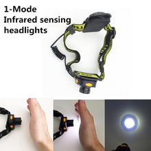 3W Mini IR Sensor Headlight LED Head Flashlight Lamp 1 Mode Headlamp Lantern for Outdoor Camping Light,Use AAA