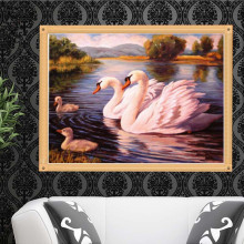 Crafts 5D Diy Diamond Painting Animal Swan Cross Stitch Diamond Embroidery Crystal Round Diamond Mosaic Pictures Home Decor gift