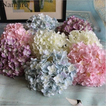 176 Petal/Flower Cheap Artificial Hydrangea Flower Ball DIY Silk Hydrangea Accessory for Home Wedding Decoration Fake Flores(China)