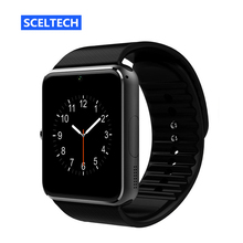SCELTECH Bluetooth Smart Watch GT08 For Apple iphone IOS Android Phone Wrist Wear Support Sync smart clock Sim Card PK DZ09 GV18(China)