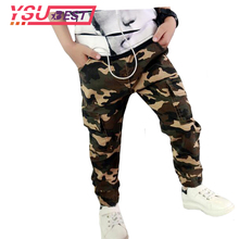 2018 New Teenage Boy Clothing Kids Camouflage Trousers Kids Pants Boys Trousers Camo Pants Boys Military Pants Military Pants(China)