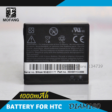 Real 1000mAh battery DIAM160 BA S270 battery for HTC Touch Diamond P3700,100, S900,P3701,P3100,O2 XDA Ignito 2pcs/lot