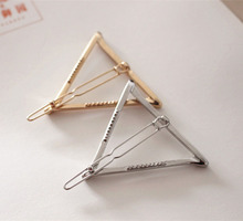 Boho Style Women Girls Fashion Hairpins Hollow Triangle Hair Clip Barrette Wedding Party Hair Accessories Decorations Jewelry(China)