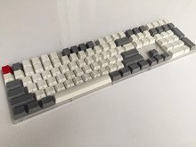 Side Print Blank 108  layout Thick PBT White Grey Keycap  For OEM Cherry MX Switches Mechanical Gaming Keyboard