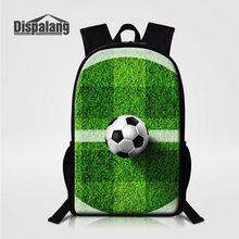 Dispalang Men's Casual Travel Bags 3D Printing Footballs Design Children Backpacks Male School Bag Boys Lovely Rucksack Knapsack(China)