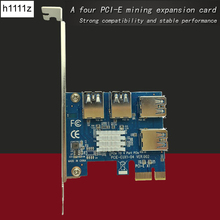 PCIe 1 to 4 PCI Express 1x to 4 Port 16X slots Riser Card PCI-E 1X to External Slot Adapter USB 3.0 Port Multiplier Card for BTC