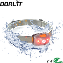 Boruit Adjustable 4 Modes Red light 2 Red LED+ 1White LED 2W 200 Lumens tail light Lamp Headlight Headlamp Torch Lantern camping