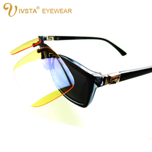 IVSTA Gaming Computer Glasses Men Yellow Clip On Anti Blue Ray for Computer Radiation Women myopia Sunglasses Polarized lenses(China)