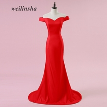weilinsha Cheap Sexy Mermaid Evening Dresses Long Simple 2017 New Arrival Formal Gowns Wedding Reception Vestido de Festa(China)