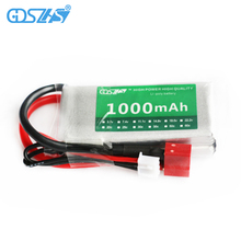 GDSZHS 7.4V 1000mAh 2S 25C Lipo Battery Rechargeable Battery Pack JST Plug T Pluy for RC Car Truck Truggy RC Hobby
