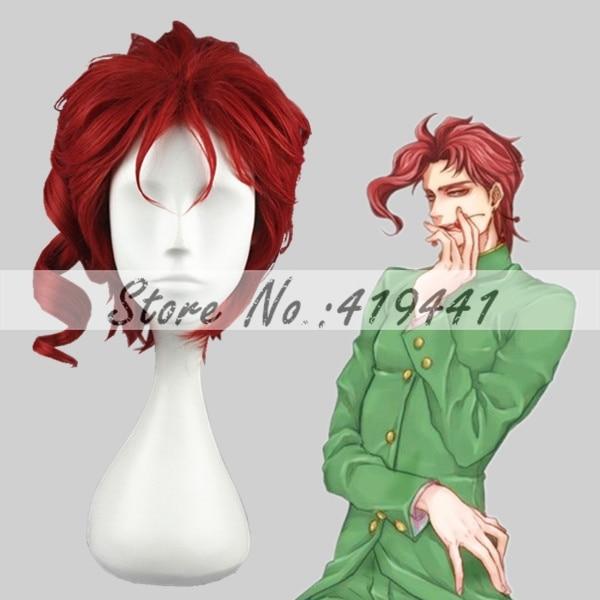 Free Shipping 28cm Short Curly JoJos Bizarre Adventure Kakyoin Noriaki Red Wig Synthetic Anime Wig Cosplay Hair Wig<br><br>Aliexpress