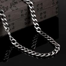 men cool 8mm width chains N057 hot China supplier latest design 316L stainless steel fashion Necklace(China)