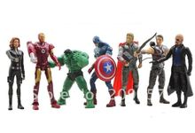 Marvel comics The Avengers Superheroes Batman Hulk Thor Spiderman Captain America Figure 7pcs/Set