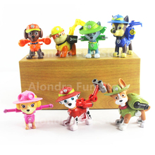 7pcs/set New Canine Patrol Dog Toys Russian Anime Doll Jungle Rescue Patrol Puppy Toy Patrulla Canina Juguetes Gift Boys