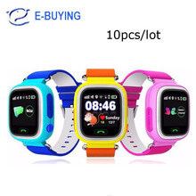 2017 DHL10pcs/lot GPS Touch Screen WIFI Smart Watch Children Location kid safe Anti Lost Monitor wristwatch smart baby watch Q90(China)