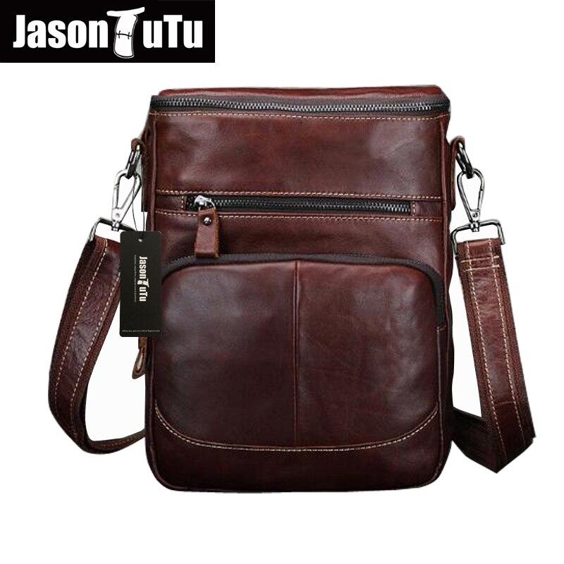 JASON TUTU Brand Men Messenger Bags Vintage Genuine Leather Small shoulder bag Cowhide CrossBody Bags high quality HN55<br><br>Aliexpress