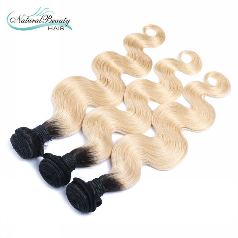 Dark roots ombre blond brazilian hair two tone body wave hair weaving  613 dark root ombre hair weave free shipping<br><br>Aliexpress