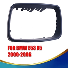New Left Matte Black Car Door Rear View Mirrors Cap Auto Side Mirror Covers For BMW E53 X5 2000-2006 KOLERADER #9271(China)