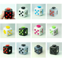 11 Colors Fidget Cube Magic Finger Toy Puzzle Cube A Desk Toy 2016 New Anti-stress Toy Magic Funny Christmas Gift Stock