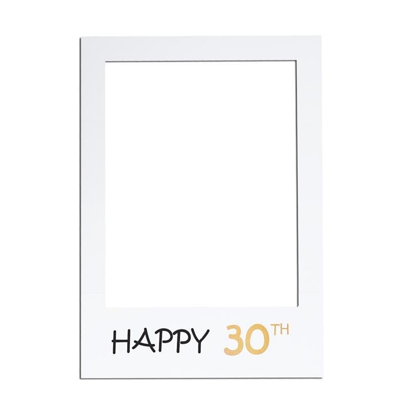 Großhandel Glückliche 30. Diy Papier Bilderrahmen Ausschnitte Photo ...