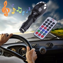 New Foldable USB for SD MMC Card Slot Car Auto Kit Cigarette Wireless Radio Music MP3 Player FM Transmitter Modulator(China)
