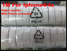 wholesale 100pcs/lot 1m White 30 pins Data Sync Adapter Charger Cable For Apple iPhone 4 4S 3GS iPod Touch