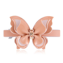 2016 New PVC Barrettes Hair Jewelry Crystal Rhinestone Butterfly Hair Clips Accessories  Fashion Tiara For Women Girls