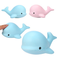 9CM Jumbo Kawaii Cartoon Cute Squishy Whale Millie Squeeze Soft Slow Rising Strap Scented Bread Kid Toy Gift Wholesale(China)