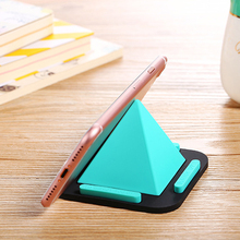 New Mobile Phone Holder Phone non-slip pad Pyramid Rack Mobile Phone Bracket For iPhone 7 plus Smartphones Tablet Stand Car(China)