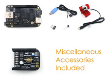 BeagleBone Black ARM Cortex A8 Rev C Development Board 4GB eMMC +Expansion Board MISC Cape + USB WIFI + Camera Kit = Package E