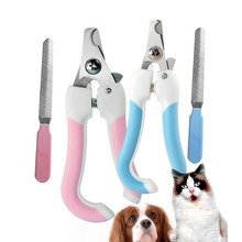 Pet Toe Care Stainless Steel Dogs Cats Claw Nail Clippers Cutter Nail File Portable Scissors Trim Nails Pet Products New