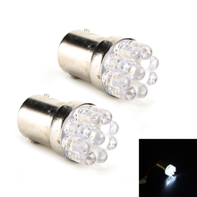 1Pcs Car Stop Tail Bulb Lamps Practical Replacement G18 1157 9 LED White Car LED Lights Car Reading Light