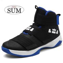 New 2017 Superstar woman men outdoor Basketball Shoes breathable high ankle boots non-slip professional basket sport shoes boys