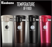 Kieabamo  4 Colors Thermos Cup Coffee Cup Bottle 304 Stainless Steel Thermocup Vacuum Thermal Mug 380ml