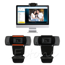 12 Megapixels USB 2.0 Webcam HD Camera with Microphone for Computer Laptop PC Black & Orange