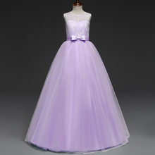 Flower Girls Dresses For Girls Clothes Princess Wedding Dress Teenager Christmas Costume Vestidos Teens Children Kids Ceremonies(China)