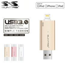 Suntrsi USB 3.0 Flash Drive for Iphone 8 x 7 6s 5s/ ipod/Ipad Pen Drive 128gb OTG USB Flash Drive 64gb 32gb For IOS PC Lightning(China)
